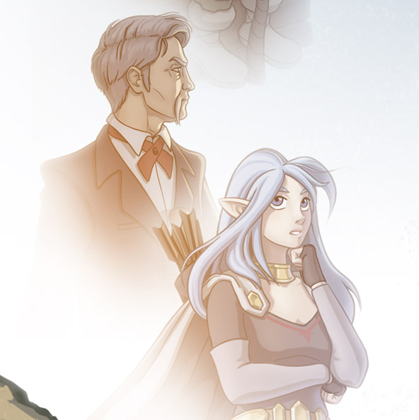 Arvale bundle title screen art close-up of Cyper and Silk