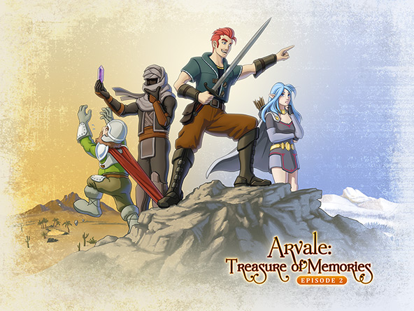 Arvale Episode 2 title screen art