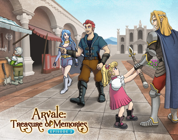 Arvale Episode 3 title screen art