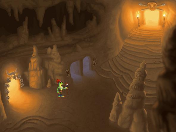 Broken Blueprint cave corridor background art
