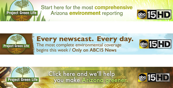 Project Green Life 728 web banner ads