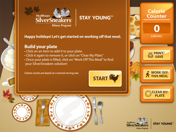 SilverSneakers Holiday Meal Calorie Counter