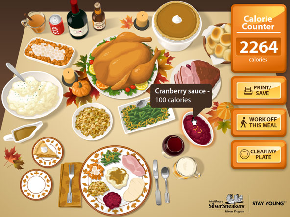 SilverSneakers Holiday Meal Calorie Counter 2